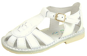DE OSU 3468 - White Leather Fisherman Sandals