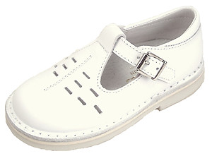 DE OSU A-1154 - White Leather T-Strap