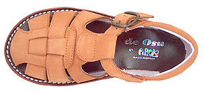 DE OSU A-7119 - Tan Nubuck Fisherman Sandals