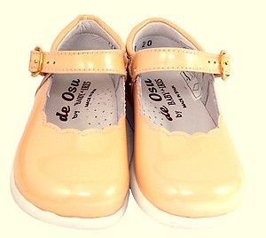 B-112 - Pink/Peach Patent Dress Mary Janes