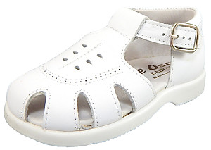 DE OSU B-138 - White Leather Fisherman Sandals