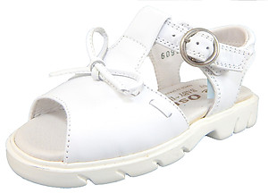 DE OSU B-6095 - White Leather Fisherman Sandals
