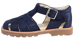 B-7119 - Navy Blue Nubuck Sandals
