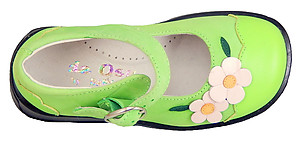 DE OSU B-7220 - Lime Green Mary Janes - EU 25 US 7