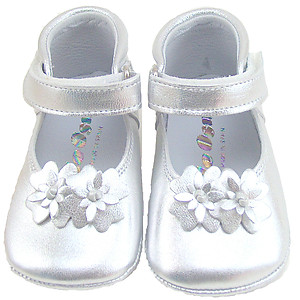 DE OSU DO-130S - Silver Crib Shoes
