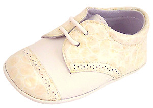 De Osu DO-136 - Ivory Croc Crib Shoes