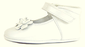 DE OSU DO-130S - White Crib Shoes
