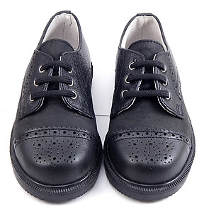 DE OSU/FARO F-2740 - Black Dress Oxfords - Euro 26 Size 9