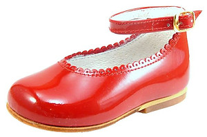 DE OSU A-302 - Red Patent Ankle Straps