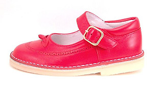 DE OSU A-1244 - Red Snap Buckle Mary Janes