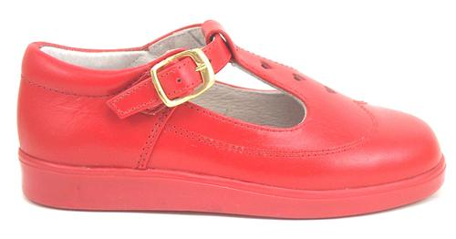 8547 - Red Leather T-Straps