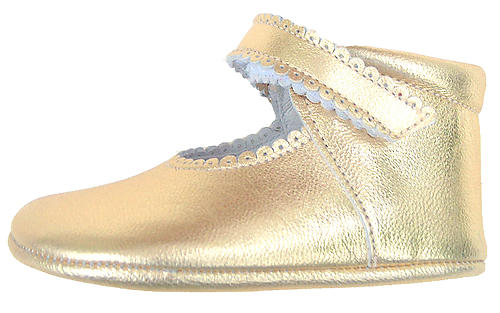 DE OSU DO-103 - Gold Dress Crib Shoes
