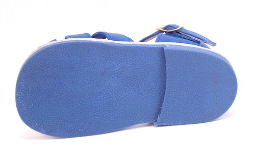 DE OSU 440 - Baby/Toddler Blue Leather Sandals